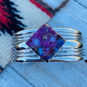 Jewelry - Navajo Pink Dream Mojave & Sterling Cuff Bracelet